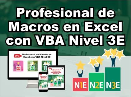 Profesional de Macros en Excel con VBA Nivel 3E